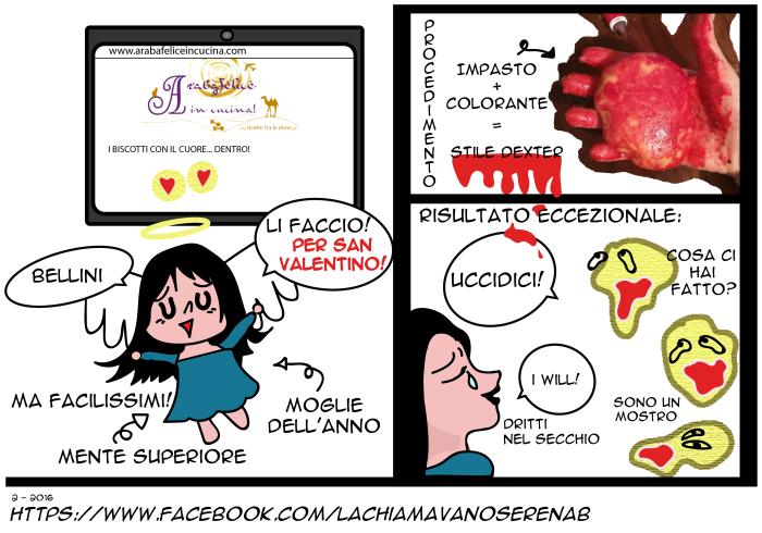 2 BISCOTTI SAN VALENTINO-Serenab-fumetti-la-chiamavano-serena-b-lachiamavanoserenab