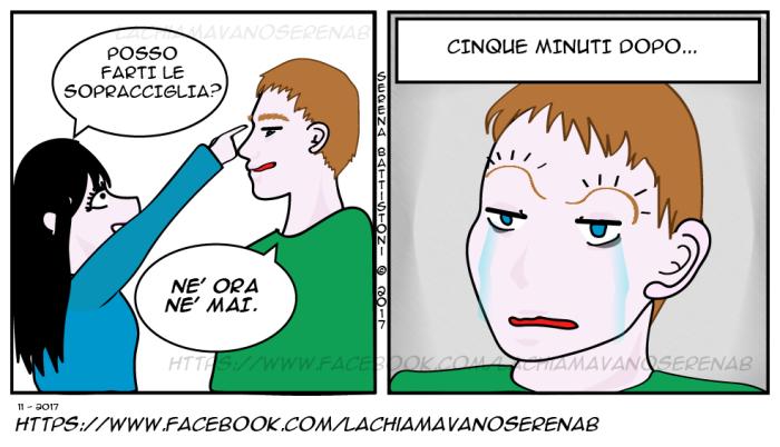 SOPRACCIGLIA-LUI-ALI-GABBIANO--SERENAB-Lachiamavanoserenab-fumetti