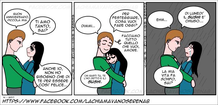ANNIVERSARIO-SUSHI--SERENAB-Lachiamavanoserenab-fumetti