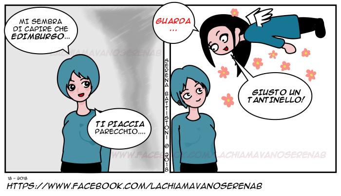 La chiamavano SerenaB, SerenaB, fumetti, fumetti italiani, manga, vignette, fumetti online, webcomic, webcomics, humor,, fumetti comici, vivere ad edimburgo. edimburgo